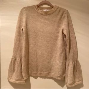 Mango Cream Bell Sleeve Sweater